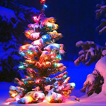 Snowy Night Theme - The Christmas theme shimmering white snow for PC