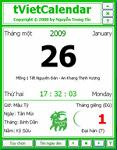 tVietCalendar 2015 1.1 - Application Desktop calendar Vietnam