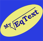 MyEqText 3.0 - Software editor for PC mathematical formula