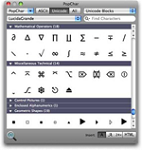 PopChar X for Mac 6.3 - Tool insert special characters into text for MAC