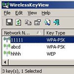WirelessKeyView 1.71 - Recovers wireless network keys stored in PC