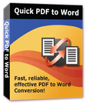 Quick PDF to Word 3.0 - Software to convert PDF to Word for PC
