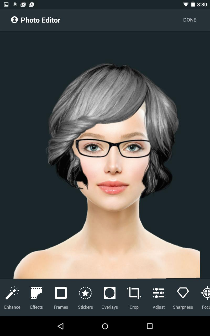 Taaz virtual makeover and hairstyles